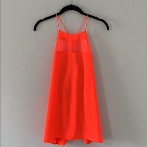 NWT Calvin Klein Neon Orange Sleeveless Top